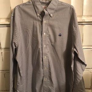NWOT checkered men's Brooks Brothers dress shirt